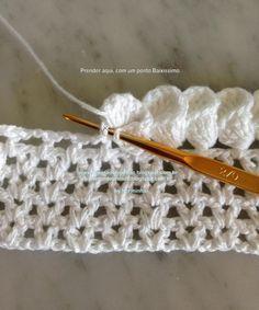 OFICINA DO BARRADO: Croche - PAP - BARRADO com acabamento em PÉTALA CONE (1)