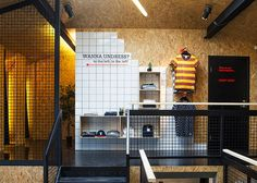 Reykjavik boutique by HAF Studio mixes chipboard with ceramic tiles