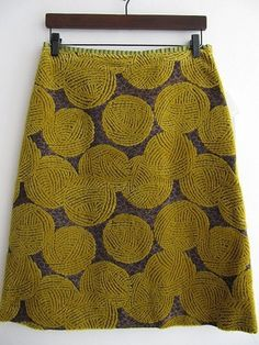 woolly ball skirt - about $170CAN and the store's in Japan, all the correspondence is in Japanese and I can't figure out if they will deliver to North America. But the skirt IS neato!