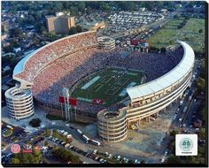 Bryant Denny Stadium -16 x 20 HD Photo on Gallery Wrapped Stretched Canvas