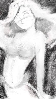 Digital charcoal Little Mermaid