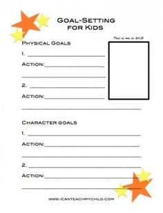 Goal Setting for Kids (free printable) - I Can Teach My Child!