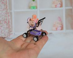 Miniature Baby Stroller 12th scale/ Miniature for doll   Etsy Dollhouse Dolls, Miniature Dolls, Dollhouse Miniatures, Strollers For Dolls, Baby Strollers, Double Prams, Pram Toys, Polymer Clay Dolls, Stainless Steel Wire