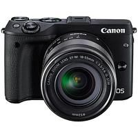 Canon EOS M3 Camera with EF-M 18-55mm IS STEM Lens, HD 1080p, 24.2MP, Wi-Fi, NFC, 3
