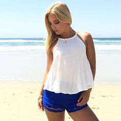 Truffle Scallop Shorts In Royal Blue