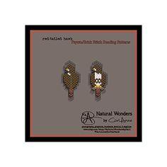 Red-tailed Hawk m4-5 brick / peyote stitch pattern for