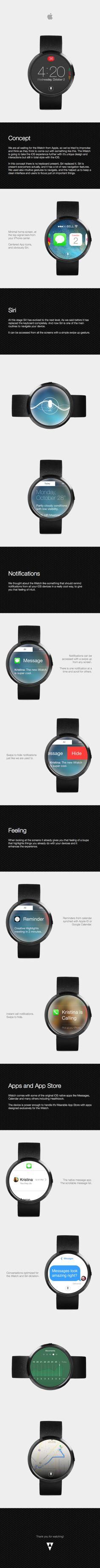 iWatch & Wearable iOS Concept by Luan Gjokaj, via Behance #iwatch #smartwatch #apple #watch #concept