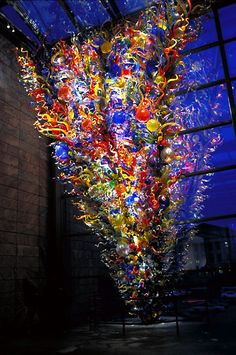 Holly's Arts and Crafts Corner: 2011: Art Project 6--Chihuly Inspired Sculpture
