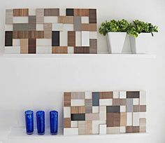 Scrap wood flooring, tile what ever decor
