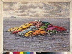Ile valuable . Paintings by Alberto Savinio ( Andrea de Chirico , 1891 1952 ) , 1949 . Private Collection . stock photo
