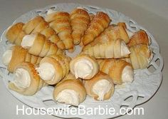 An American Housewife: Cream Horns - Lady Locks - Coronets - Clothespin Cookies