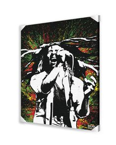 Bob Marley Memorabilia on Wrapped Canvas
