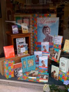Love this window display at Left Bank Books! Window Displays, Book Club Books, Fan, Children, Birthday, Cover, Happy, Life, Ideas
