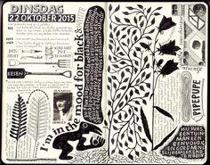 Moleskine sketchbook by Joke Boudens