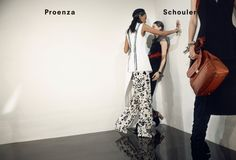 Anne Catherine Lacroix, Karolin Wolter, Liisa Winkler, Liya Kebede by David Sims for Proenza Schouler Fall Winter 2015-2016