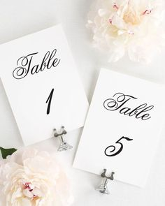 Timeless Monogram Table Numbers