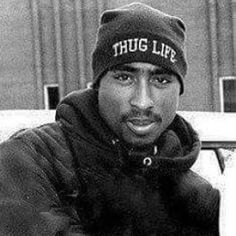 This is an image of Tupac Shakur, the rapper that Khalil and Starr were listening to and discussing moments before Khalil's murder.