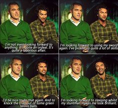 "James Nesbitt and Aiden Turner-""I can't wait to sleep,while my stuntdouble makes me look brilliant."""