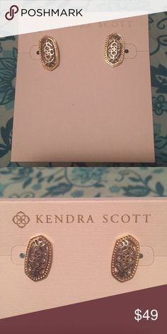 """NEW Kendra Scott Bryant earrings BRAND NEW Kendra Scott earrings in silver/gold. 14k gold/rhodium plated brass. 0.6"""" L. Never been worn! Kendra Scott Jewelry Earrings"""