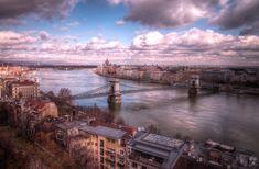 Man Made Budapest  Hungary Danube Bridge Wallpaper