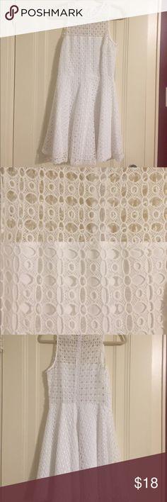 "White BB Dakota Dress Great condition! Has interesting design, only worn a couple of times. 33.5"" long, shell: 100% cotton, lining: 100% polyester BB Dakota Dresses Mini"