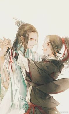GDC, also known as Mo Dao Zu Shi. It's a very very famous Chinese rebirth novel about Wei Wuxian and Lan Wangji. Also One Useless Rebirth is the one worth reading. Anime Fanfiction, Great Love Stories, No Name, Chinese Art, Asian Art, Japanese Art, Cool Artwork, Chibi, Illustration Art