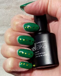 """Glamour Nail Gellaka Gel Polish in """"New York, NY"""" with glitter accents!  Review and more information at http:gel-luv.blogspot.com"""
