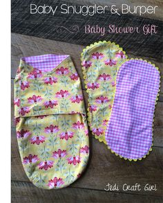 Free Pattern: Baby Swaddler & Baby Burper made from Riley Blake cotton & flannel, sewing for baby