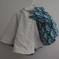 Owls--Reversible Blue and White with Hoodie Hood from B's Bounty for $45.00