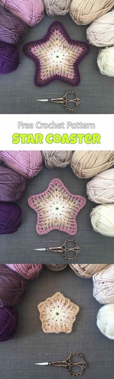 Crochet Star Coasters - Pretty Ideas