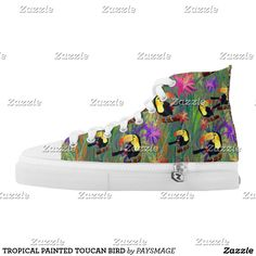 Purchase a wonderful pair of Bird sneakers & athletic shoes from Zazzle. Interchangeable covers allow you to have different shoes everyday of the week! Santa Fe Springs, Custom Sneakers, On Shoes, Designer Shoes, Converse Chuck Taylor, High Tops, High Top Sneakers, Your Style, Pairs
