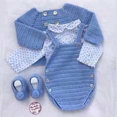 """176 Me gusta, 19 comentarios - Mi Abuela Angelita (@miabuelangelita) en Instagram: """"Palabras de agradecimiento es lo que tengo para todas las personas que cada día valoran lo que hago…"""" Boy Crochet Patterns, Crochet Shrug Pattern, Baby Patterns, Crochet Bebe, Crochet For Boys, Knit Crochet, Baby Boy Outfits, Kids Outfits, Baby Pop"""