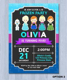 Invitación de cumpleaños congelados invitación invitación