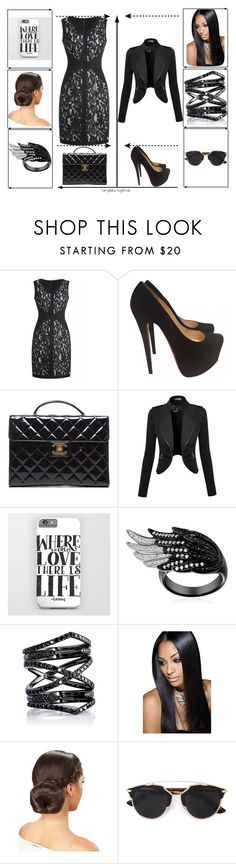 """""""funicular day"""" by keke2004 on Polyvore featuring Christian Louboutin, Chanel, Eva Fehren, Christian Dior, women's clothing, women, female, woman, misses and juniors"""