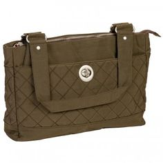 Baggallini Dark Olive Quilted Montreal Tote Bag www.BagLane.com