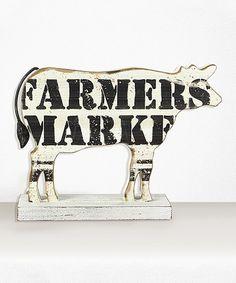 Look at this #zulilyfind! 'Farmers Market' Cow Figurine #zulilyfinds
