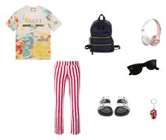 """""""Untitled #55"""" by omg-stylish on Polyvore featuring Gucci, Dondup, Isabel Marant, Marc Jacobs and Ray-Ban"""