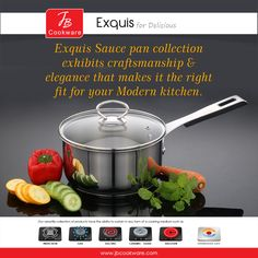#JBCookware #saucepan #Exquis #cookware #StainlessSteel #kitchenware Gas And Electric, Kitchenware, Cookware, Dishwasher, Stainless Steel, Ceramics, Cooking, Glass, Products