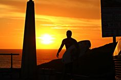 #surf #surfer #sunset
