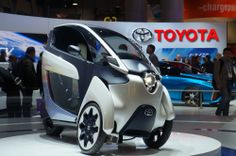 The Coolest Cars at CES 2014 By Dan Costa January 10, 2014 Toyota i-Road The two motorized wheels tilt instead of turning, and the steering is done via the back wheel. Just keep in mind, the iRoad's top speed is just 30mph atm
