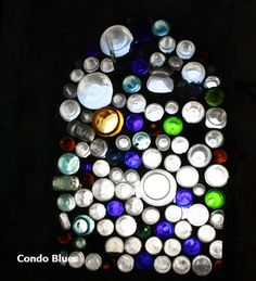 Condo Blues: Recycled Glass Bottle Windows