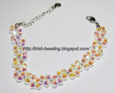 Learn to create your own jewelry and make yourself look unique Beaded Jewelry, Beaded Bracelets, Tree Of Life Bracelet, Flower Bracelet, Free Baby Stuff, Baby Knitting Patterns, Handmade Bracelets, Seed Beads, Irish