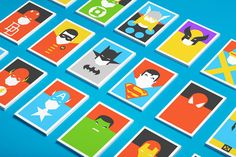 Superheroes Postcards by Forma
