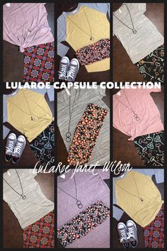 Capsule Collection: 6 LuLaRoe pieces make at least 9 outfits!!! Link to my group in bio!
