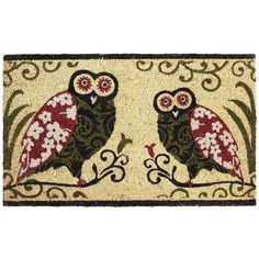 Owls Doormat - Knock knock.  Who's there? Who-o-o. That's what I said, who's there? Who-o-o.    Owls who will suck out your soul, that's who-o-o!