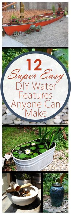 Gardening home garden garden hacks garden tips and tricks growing plants plants vegetable gardening planting fruit flower garden outdoor living The post 12 Super Easy DIY Water Features Anyone Can Make appeared first on Gardening. Organic Gardening, Gardening Tips, Vegetable Gardening, Garden Art, Garden Design, Garden Pond, Diy Water Feature, Water Features In The Garden, Unique Gardens