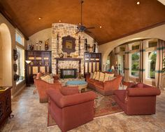 Mediterranean Family Room Hacienda Style Homes Design Pictures Remodel Decor and Ideas & hacienda style decor | My Web Value