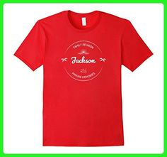 Mens JACKSON Family Reunion Vacation Party Event Matching T-Shirt Small Red - Relatives and family shirts (*Amazon Partner-Link)
