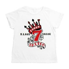 Women's All Over Print T-Shirt available online at www.cafepress.com/lucky7tattooandpiercing
