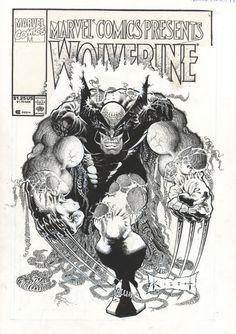 #SamKieth deve ter ferrado os próprios olhos arte-finalizando essa capa [que foi desenhada por ele mesmo]. O sacrífico foi pela revista Marvel Comics Presents n. 92, que chegou às bancas americanas em 29/10/1991 [25 anos atrás].
